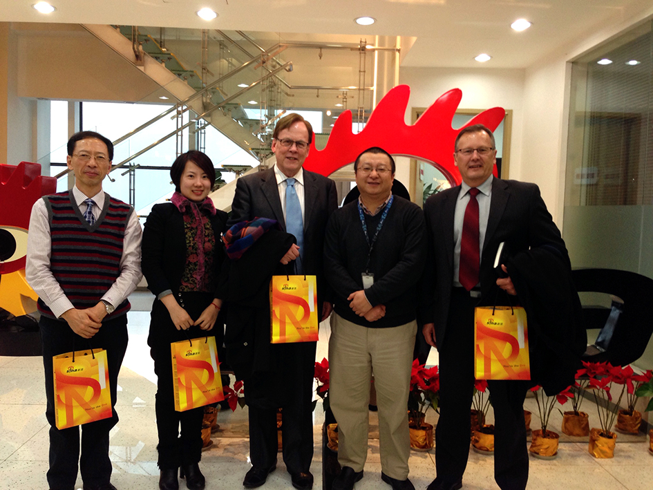 L to R: Mr Xue Ming, Director, Ms Julia (Ting Ting) Gong, CEO and Mr Garry Crockett, Global Executive Chairman CHINA READY, Mr Wang Wei, Director Information Technology Sina Weibo, Mr Geoff Buckely, Director CHINA READY