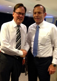 L to R: Mr. Garry Crockett Global Executive Chairman, CHINA READY with the Hon. Mr. Tony Abbott, Prime Minister of Australia