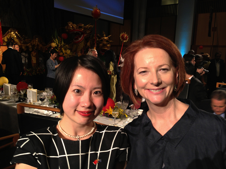 Ms Gong with Prime Minister Hon. Ms Julia Gillard MP