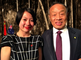 Ms Gong, CEO CHINA READY with China Ambassador to the United States of America, Hon. Mr Zhaoxin Li