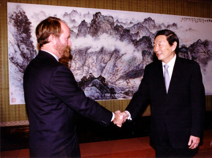 Mr. Bruce Dover with China's Premier Zhu Rongji