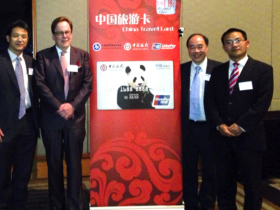 L to R: Mr James Yang, Chief Representative UnionPaySouth Pacific, Mr Garry Crockett, Global Executive Chairman CHINA READY, Mr Zhihua Zhong, Vice President Bank of China Australia, Dr Lin Kuang, China National Tourism Administration Director - Australia and New Zealand