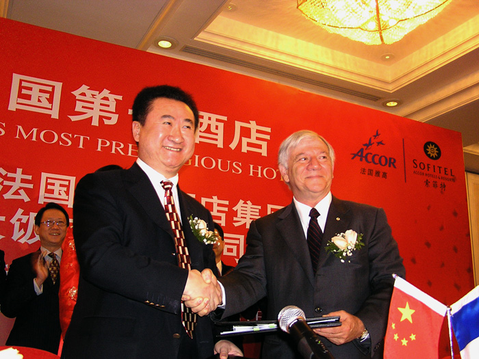 Mr. David Baffsky with China's Wanda Group Chairman Mr. Wang Jianlin